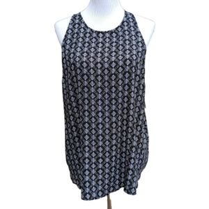 Old Navy| Blouse Geo Print Black White Sleeveless